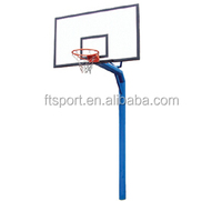 Basketball Pole and backboard with rim net