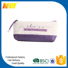 new arrival linen pencil cases pen bag with zipper school pencil bag pen bags