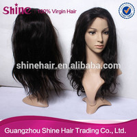 Cheap indian remy lace front wigs, heavy density natural black AAAAA human hair wigs bleached knots