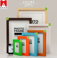 Simple 4x6 size rectangle wooden ps picture photo frame 3d oil painting on canvas