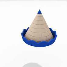 High quality slide roof playground equipment accessories castle round roof for Slippery slide LLDPE blue accessories