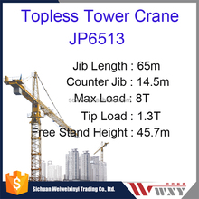 JP6513 Topless Tower Crane Max load 8tons External Stationary Crane