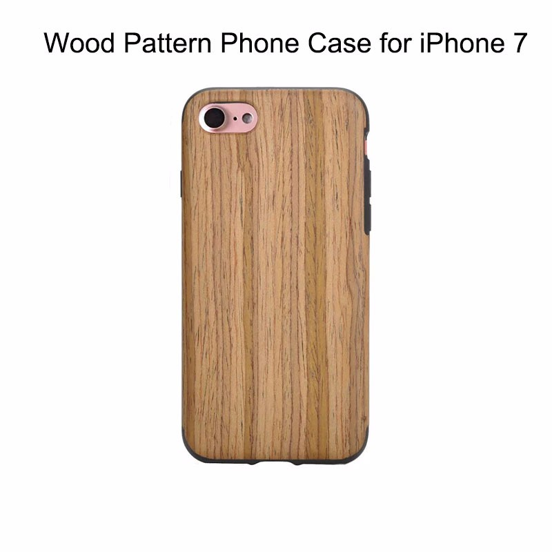 Shenzhen Mobile Phone Accessories Fashionable Style Wood Skin Phone Case for Apple iPhone 7