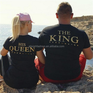Latest Custom Stylish King Queen Black Couple Shirts