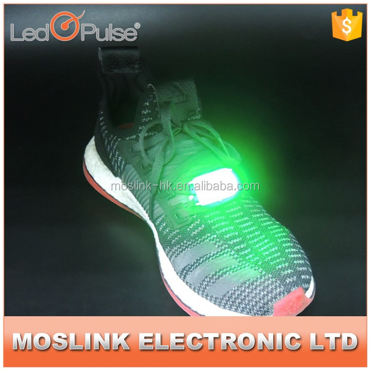 High quality low price battery operated water resistant colorful led shoes light