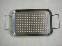 stainless steel rectangle bbq grill trays set/bbq grill pan/bbq grill griddle