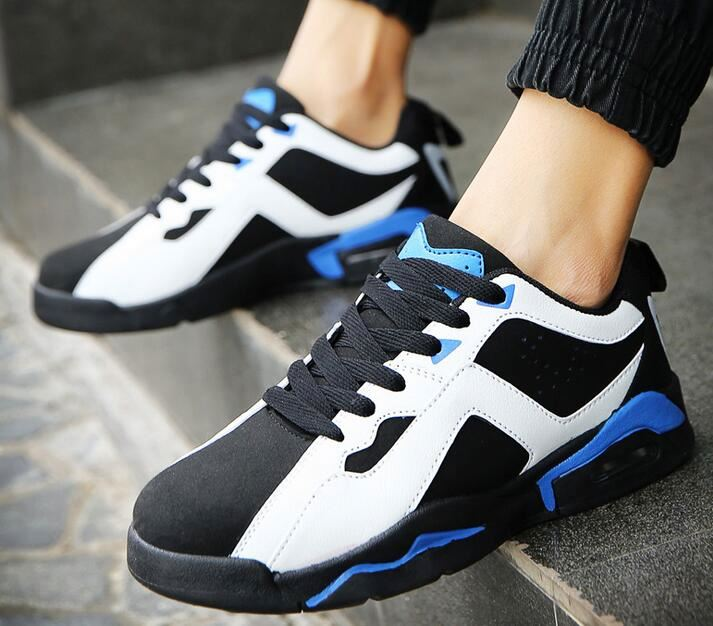 New arrive basketball Shoes Mixed Color comfortable pu leather Sport Walking Shoes for men