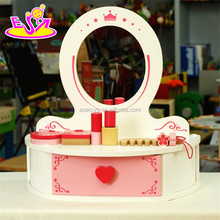 2016 new design baby wooden dresser toy, top fashion kids wooden dresser toy, role play children wooden dresser toy W08H048