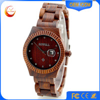 causal wooden watches hand made japan movt quartz bamboo sandalwood wood watch