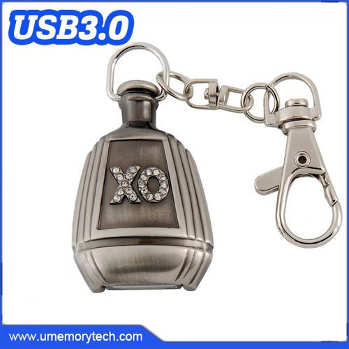 Metal wine bottle generic flash disk usb device/usb3.0 flash disk usb device/unique usb devices