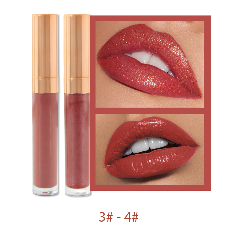 6-color pearlescent matte moisturizing lip gloss moisturizing long-lasting lip glaze lip gloss