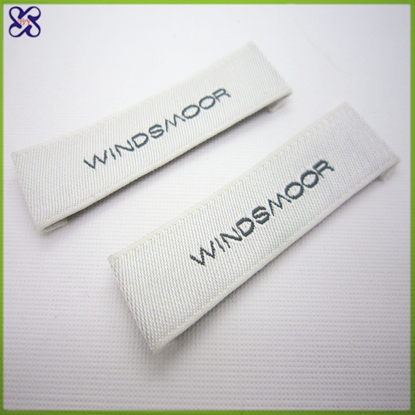 Custom Reflective Organic Cotton Woven Size Tags Garment Labels