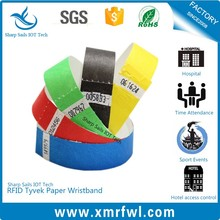 One-time use HF13.56MHZ nfc bracelet for amusement park