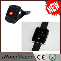 Wireless Remote Control Vibrating Alarm Watches Bathroom Alarm Emergency Pager Watch Pager Watch