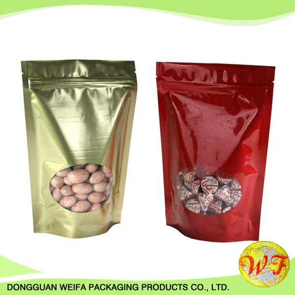 1kg Plastic Food Packaging Bag With Window/custom Disposable Plastic Bag For Meat/sea Food With Window