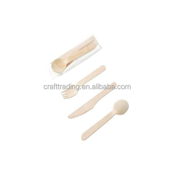 Factory Direct Disposable Wooden Spoon And Fork