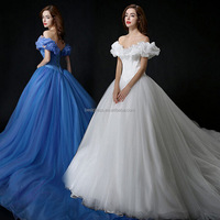 Hot Sale 2015 New Movie Deluxe Blue Cinderella Dress Cosplay Costume Party Dress Princess Dress Adult Cinderella Costume