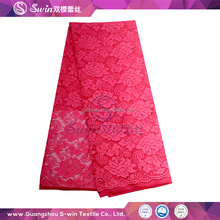 Mother Of The Bride Dress Sexy Pink Elastic Polish Lace Fabric For Latest Fashion Dresses