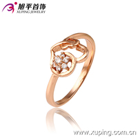 13131-xuping fashionable jewelry dubai rose gold rings women jewelry engagement ring