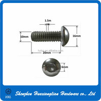 Steel Plated Black Zinc Hex Socket Dome Button Head Cap Machine Screw M3 M4 M6 M8