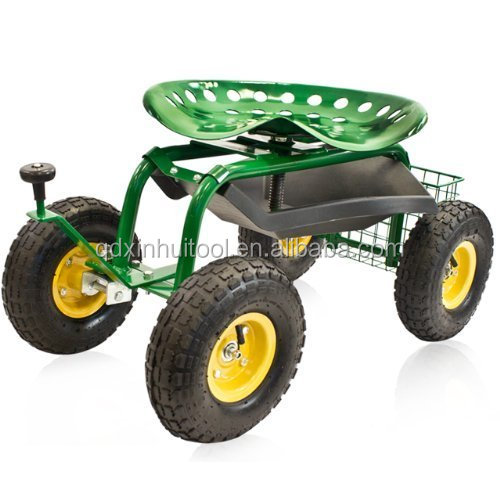 Grinding Wheel With Tractor Seat Garden : Garden work seat cart tractor on