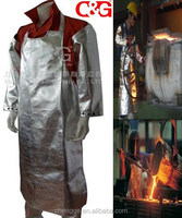 Heat reflective aluminized apron fire safety apron industrial apron