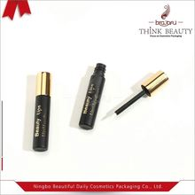 Cosmetic eyeliner packaging of transparent empty double eyeliner pen tube