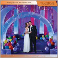 Wedding/ party cheap inflatable rainbow arch with led light for sale