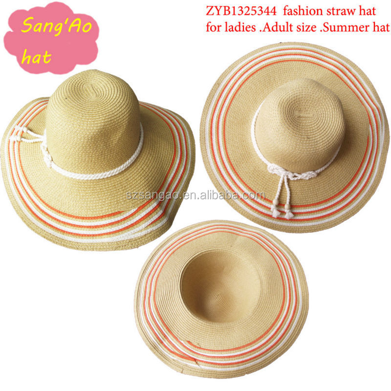 large brim straw festival hat with ribbon