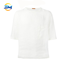 Short and loose t-shirt box size plain OEM fabric design cheap clothing