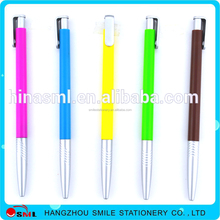 2016 Promo colorful plastic ball pens with printed logo for promotional