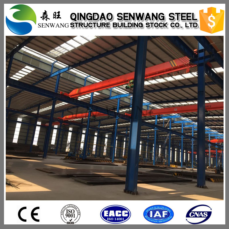 China modular steel building prefab warehouse with long term service life