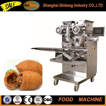 Encrusting machine for kubba/kibbeh