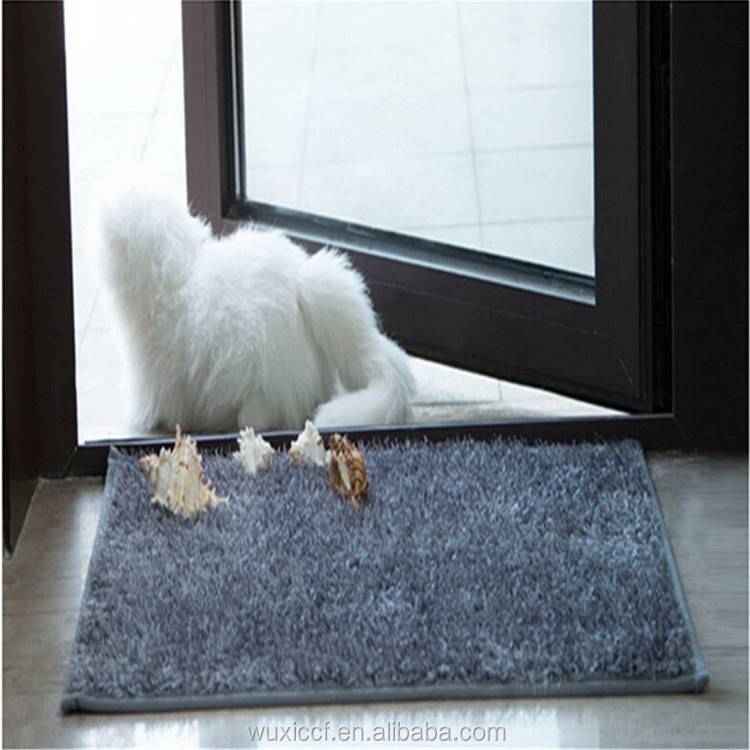 Service supremacy new design microfiber rubber backed bathroom rug