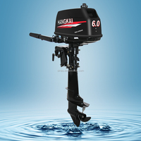 china 6hp 2 stroke gasoline outboard engine cheap price CE fishing boat outboard motor for sale