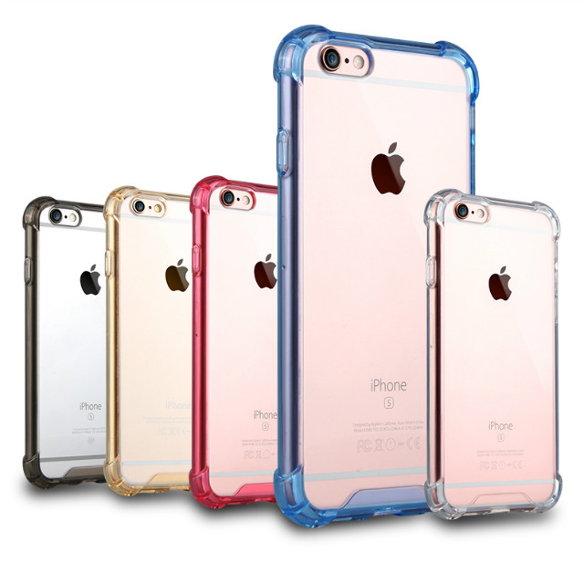 TPU PC Transparent Back Cover PC Bumper Robot Pattern Cell Phone Cases for Iphone 6 6plus 6s 6splus