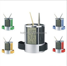 HC-201A desk electronic calendar with pen holder