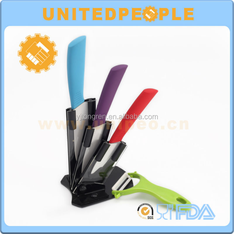 innovative products 2016 in kitchen 5 piece colorful Ceramic kitchen knife set