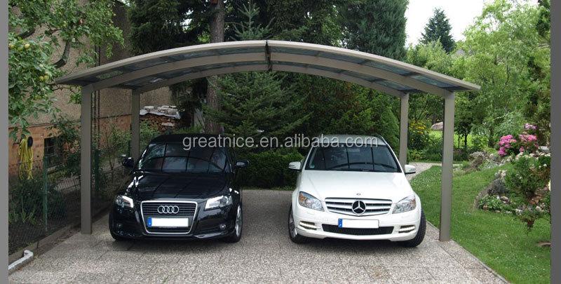 Alluminio doppio posto auto coperto garage m stile con for Piani di garage con posto auto coperto