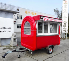 New food trailer electric car, carros de alimentos mobile food, fiberglass box enclosed trailer