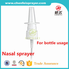 Eco-friendly custom fine mist spray pump 20 410 plastic medical nasal sprayer for bottles
