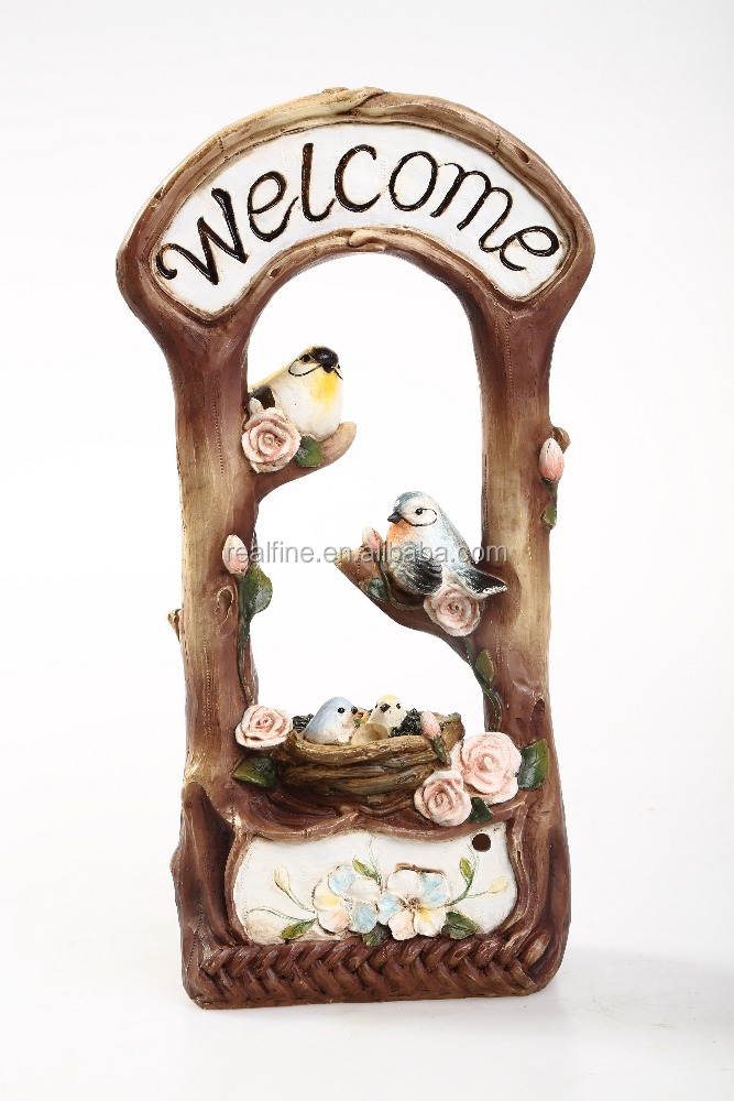 Wholesale Resin Bird Statues, Resin Wooden Product for Home Decoration