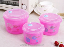 nice round pp fresh keeping box with transparent lid