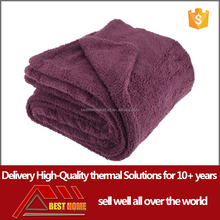 made in china cheap 100% Polyester polar Fleece electric heated throw blanket for unisex