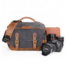 dsrl camera in guangzhou Sport Style Waterproof Canvas Sling Shoulder Long Strip Dslr Camera Bag