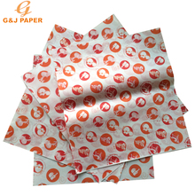 30x33cm Logo Preprinted for Burger Greaseproof Paper