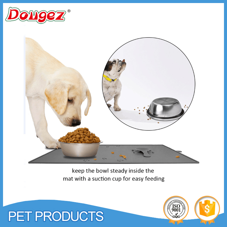2016 New design Durable Food Grade Anti-slip Silicone Pet Feeding Mat Food mats with suction cup
