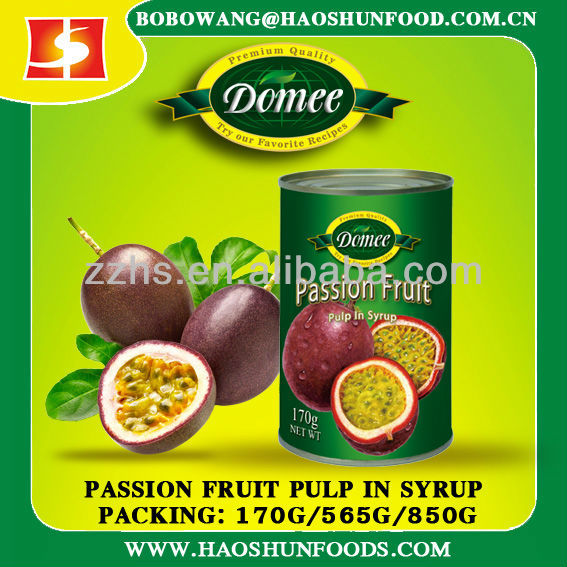 canned passion fruits