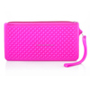 Eco-friendly portable silicone cute comestic zipper pouch