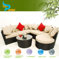 Free Combination Sofa Set Lounge White Bali Rattan Outdoor Furniture